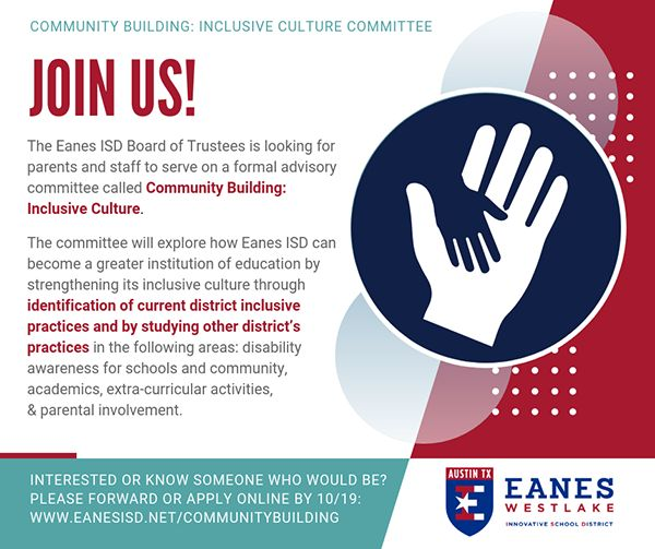 Apply for Community Building: Inclusive Culture Committee